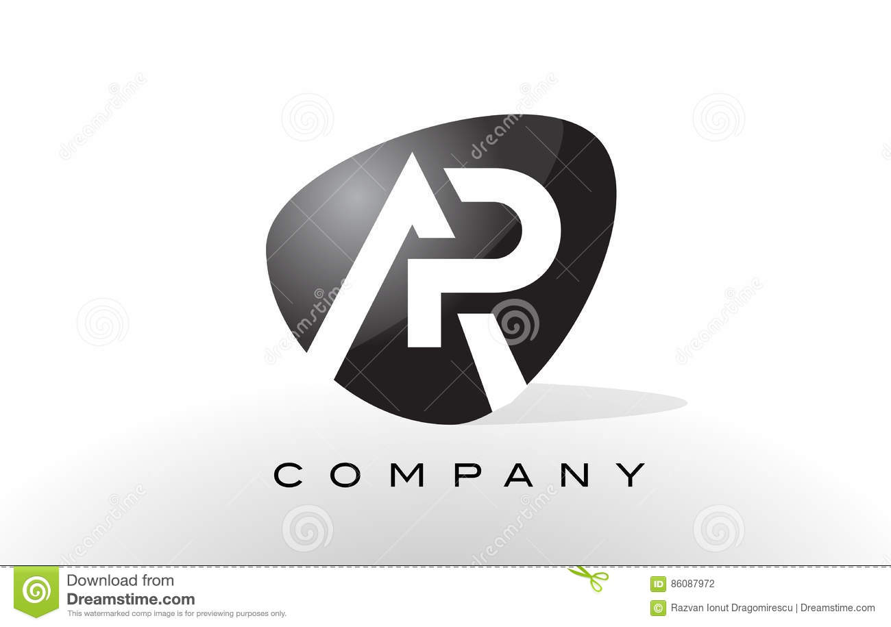 ap logo letter design vector stock vector illustration of