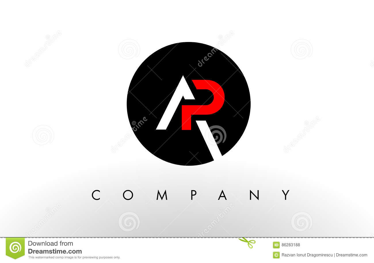 ap logo letter design vector stock vector illustration of media