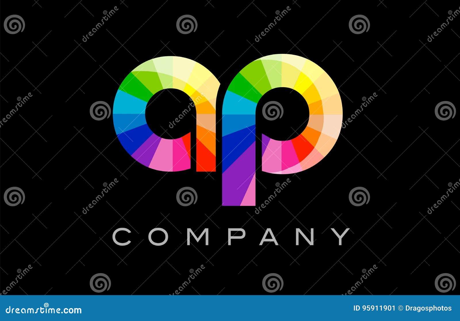 AP A P Alphabet Letter Mosaic Vector Design