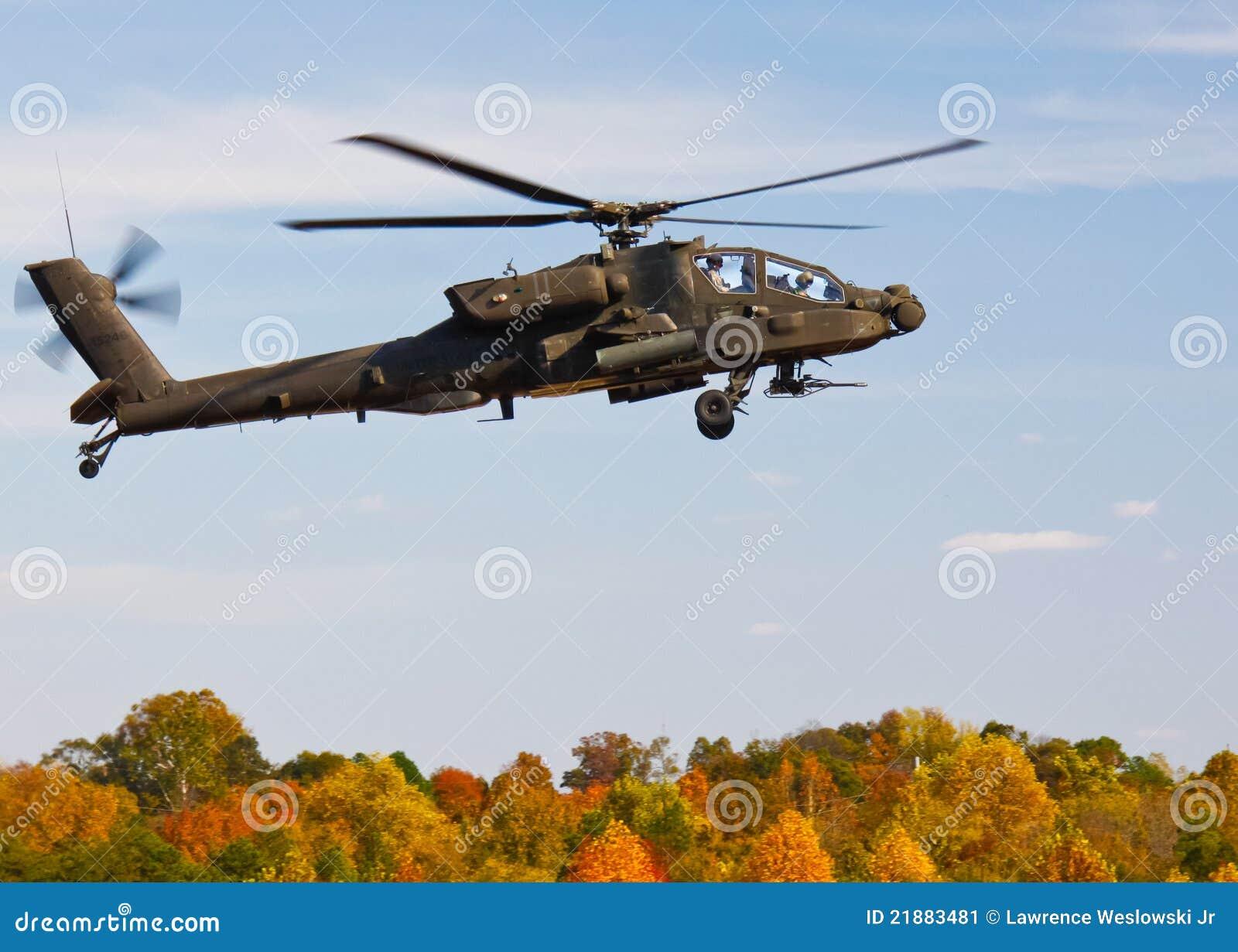 Un Elicottero : Apache ah un elicottero dei elicotteri militari fotografia