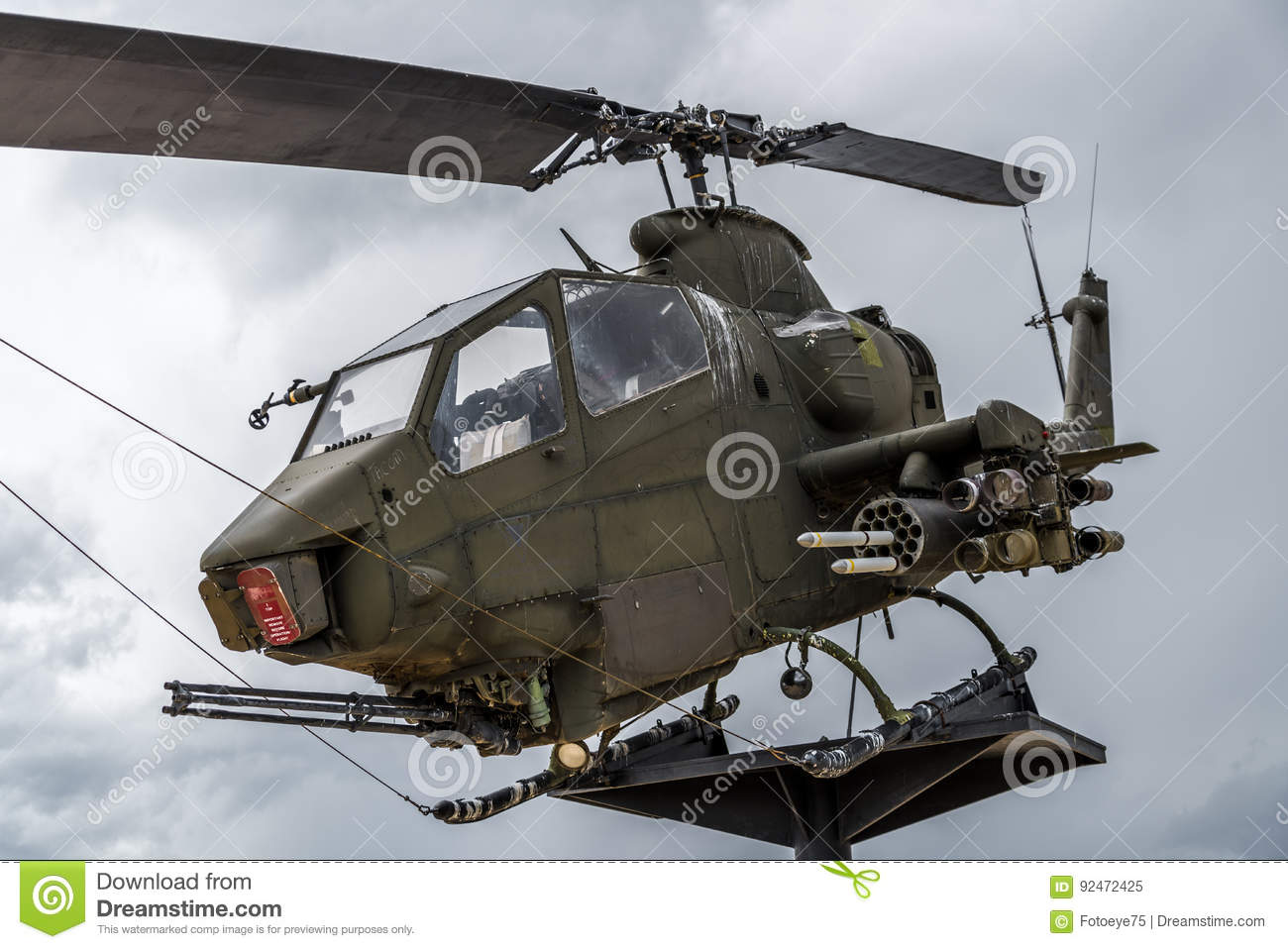 Apache Helicopter Vietnam Era Editorial Image - Image of