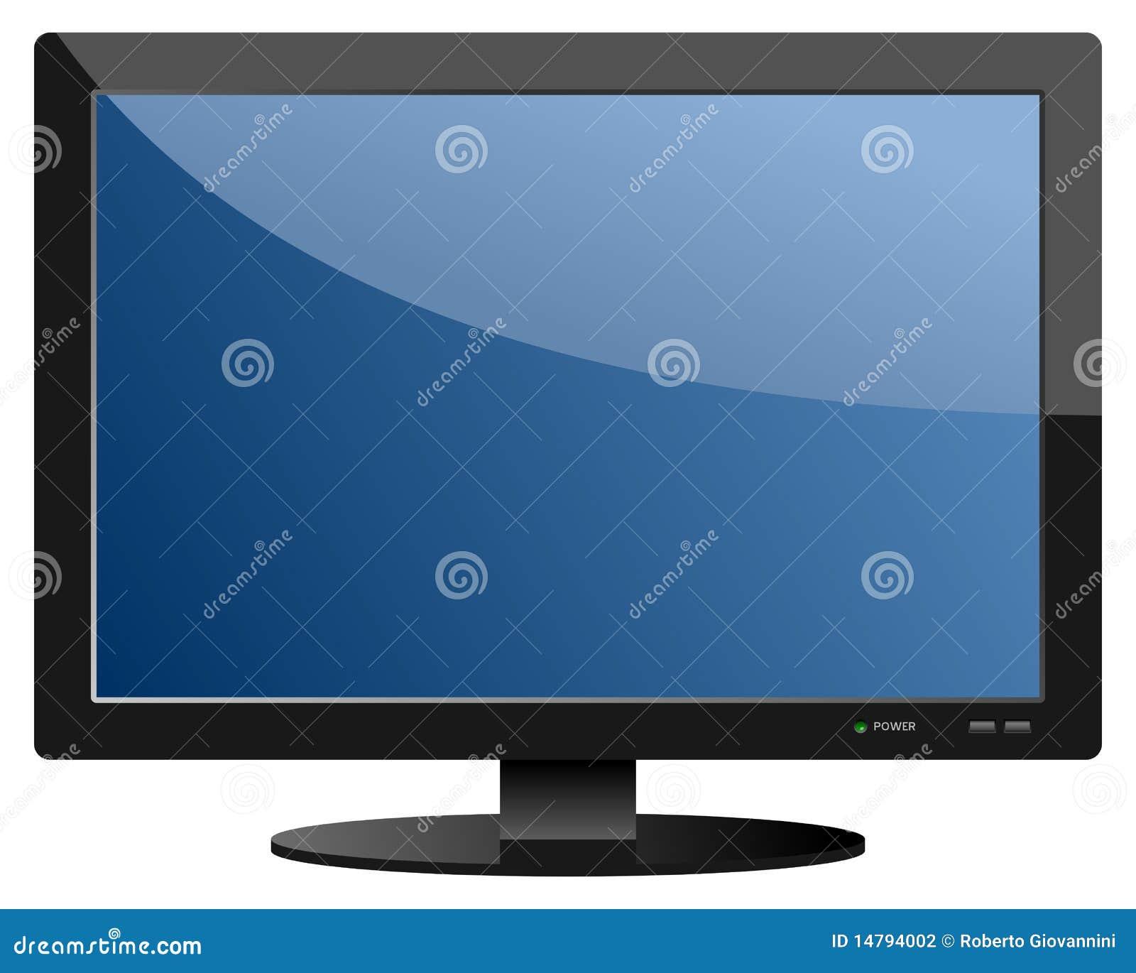 Aparato de TV Azul de la pantalla plana
