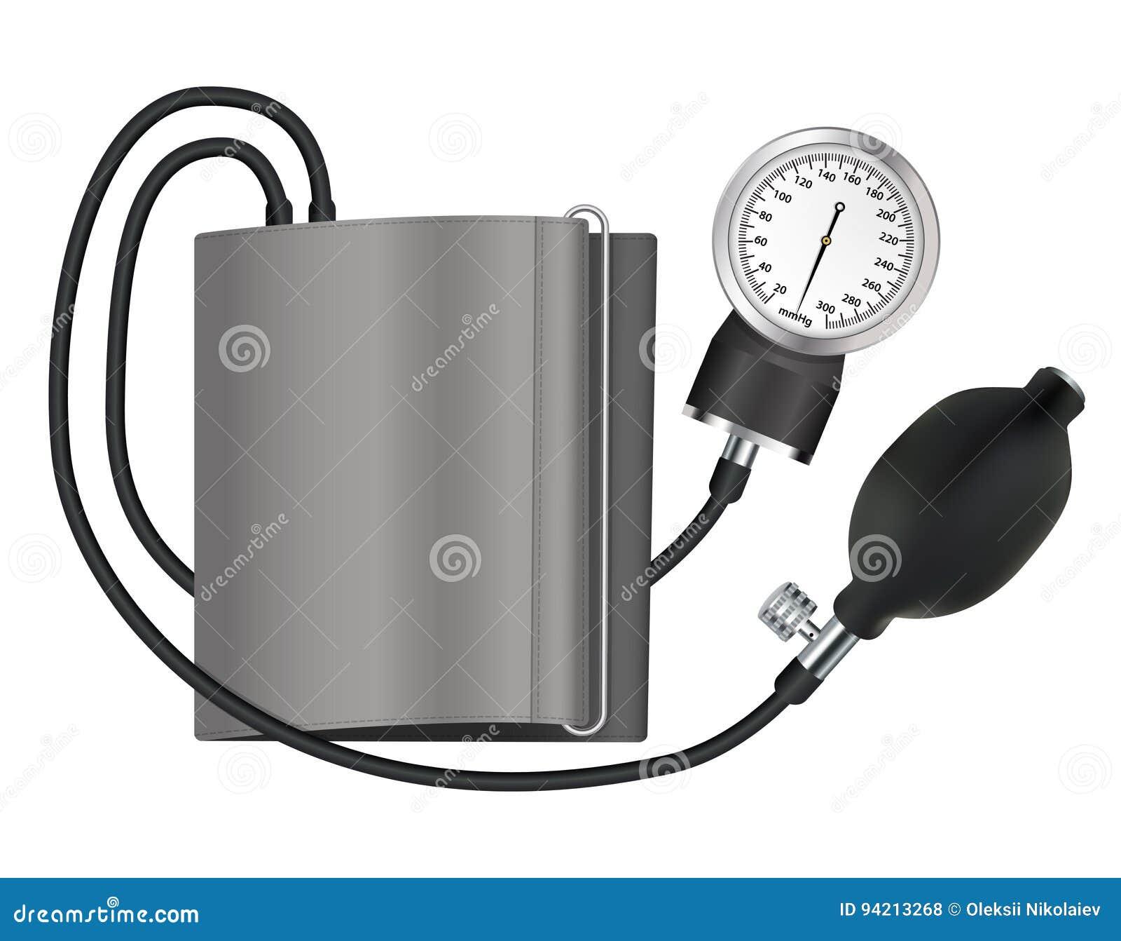 8ba37cbb63ae8 Aparato médico de Tonometer para medir la presión arterial Objeto aislado  Ilustración del vector