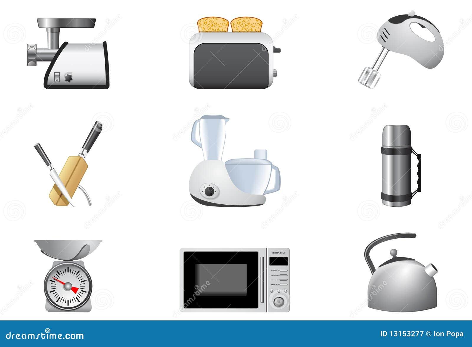 Aparatos electrodom sticos cocina fotograf a de archivo for Aparatos de cocina