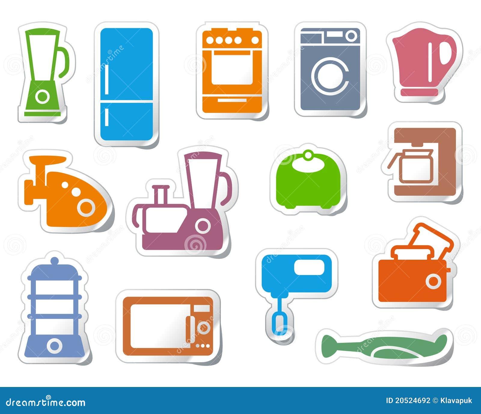 Aparatos electrodom sticos de la cocina ilustraci n del for Aparatos de cocina
