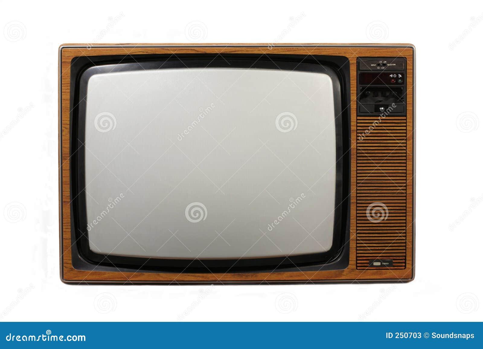 Aparelho de televisão retro