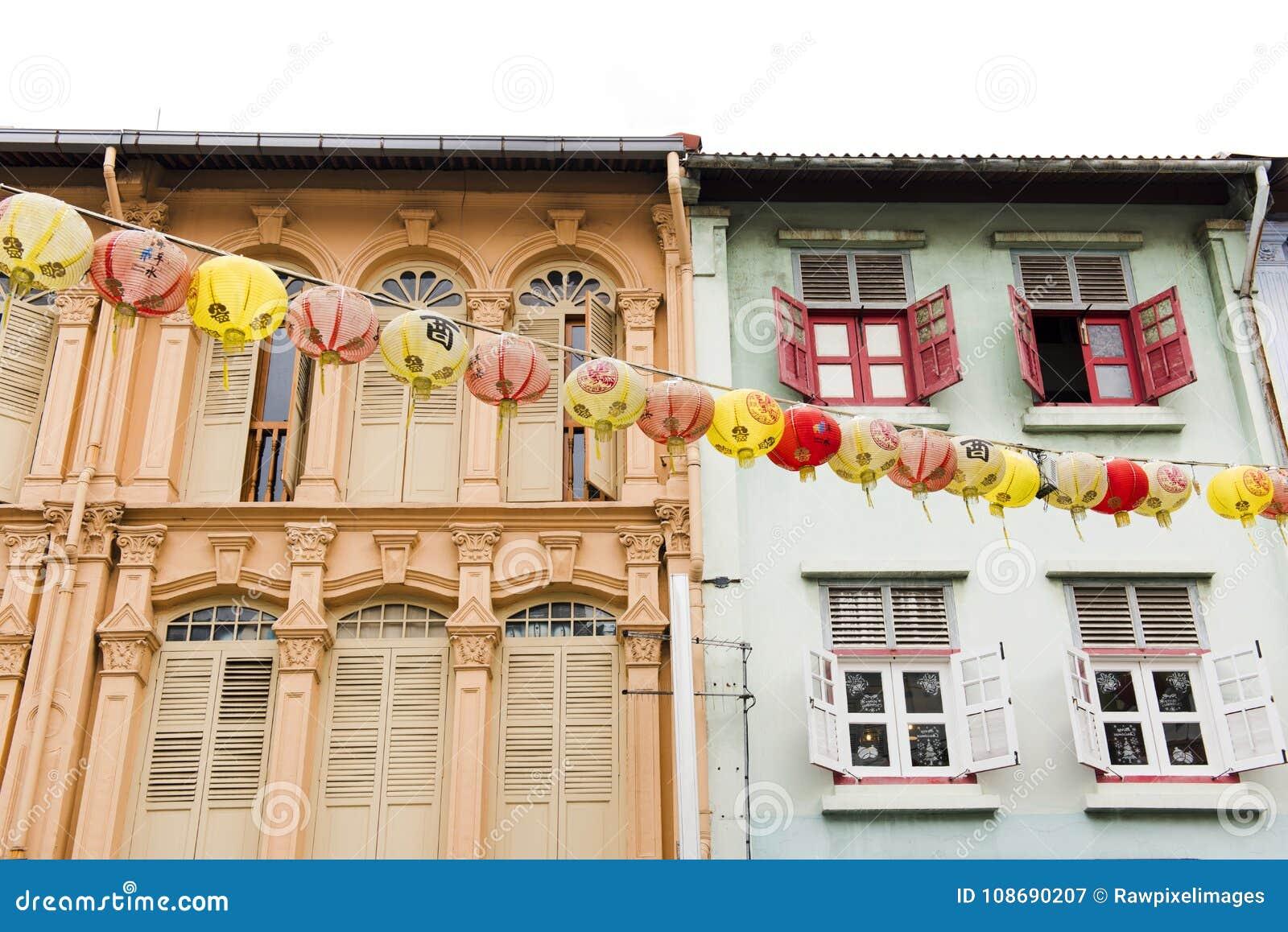 Apartamento colorido na cidade de Singapura