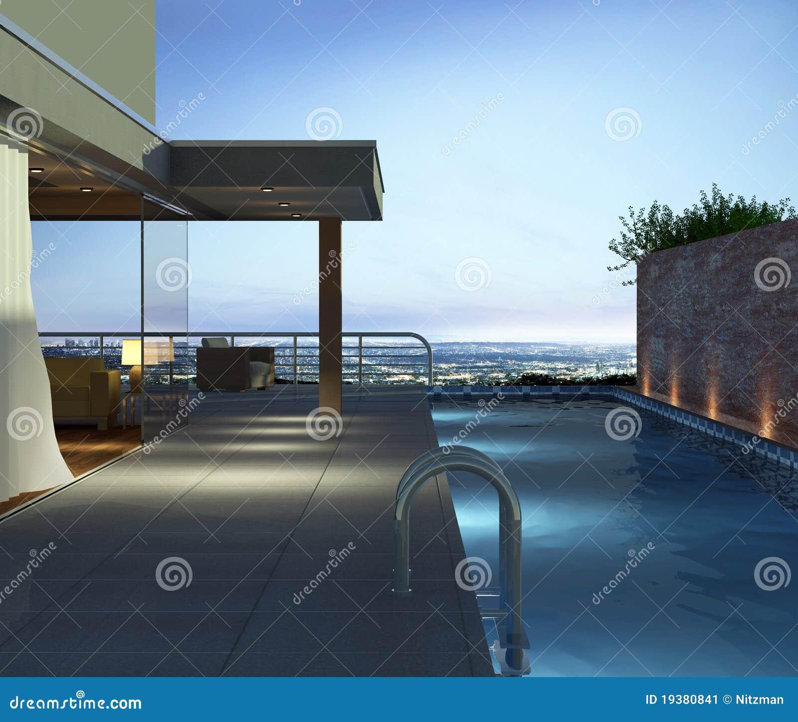 Apartamento con la piscina