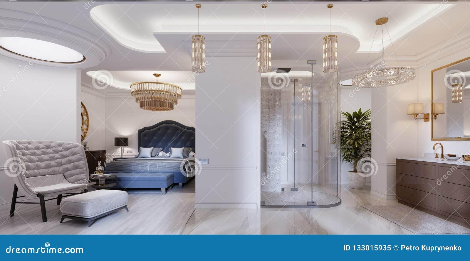 Apartamento Del Diseño Con Los Dormitorios Y Los Cuartos De ...