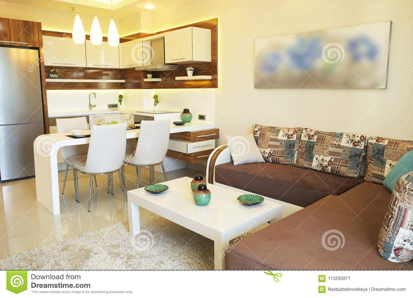 Excepcional Cocina Abierta Y Sala De Estar Modelo - Ideas de ...