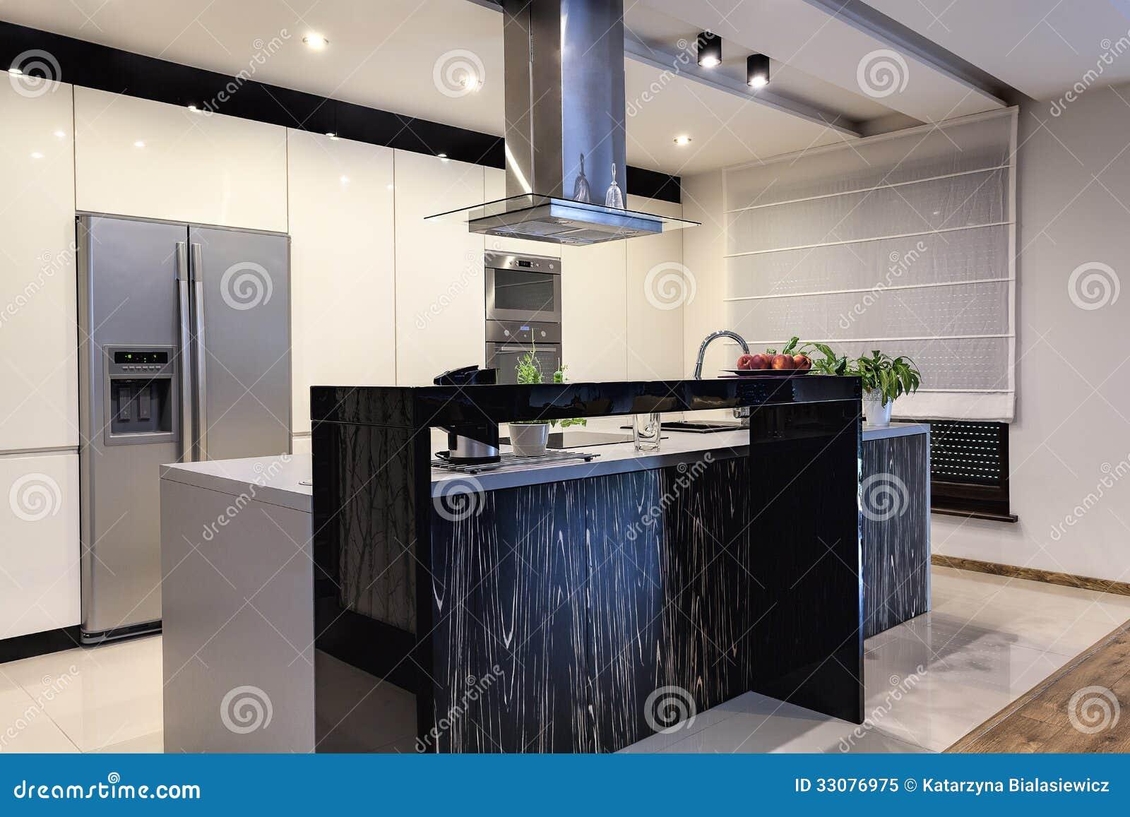 Apartamento Urbano Cozinha Contemporânea Foto de Stock Royalty Free  #7E684D 1300 957