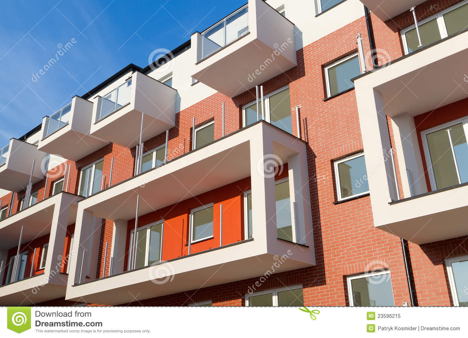 Apartamentos modernos foto de archivo libre de regal as for Apartamentos disenos modernos