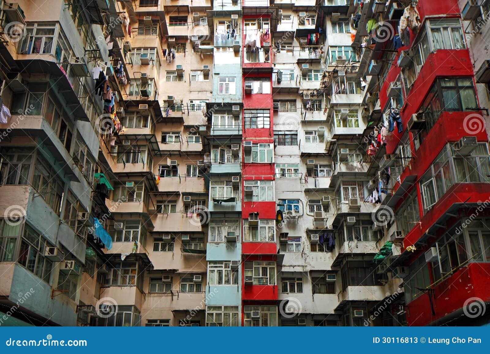 Apartamentos viejos en hong kong fotos de archivo imagen - Apartamentos en hong kong ...