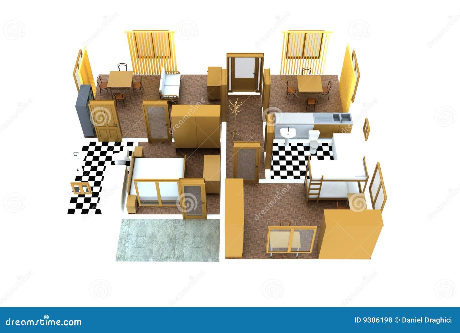 Apartment Royalty Free Stock Photos - Image: 9306198