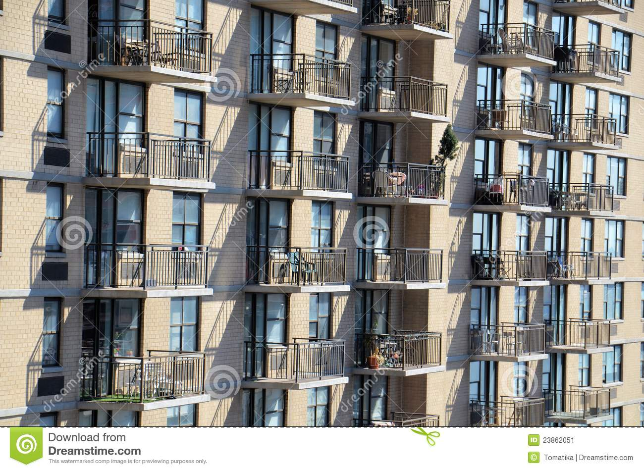 Apartment balcony stock image image 23862051 for New york balcony
