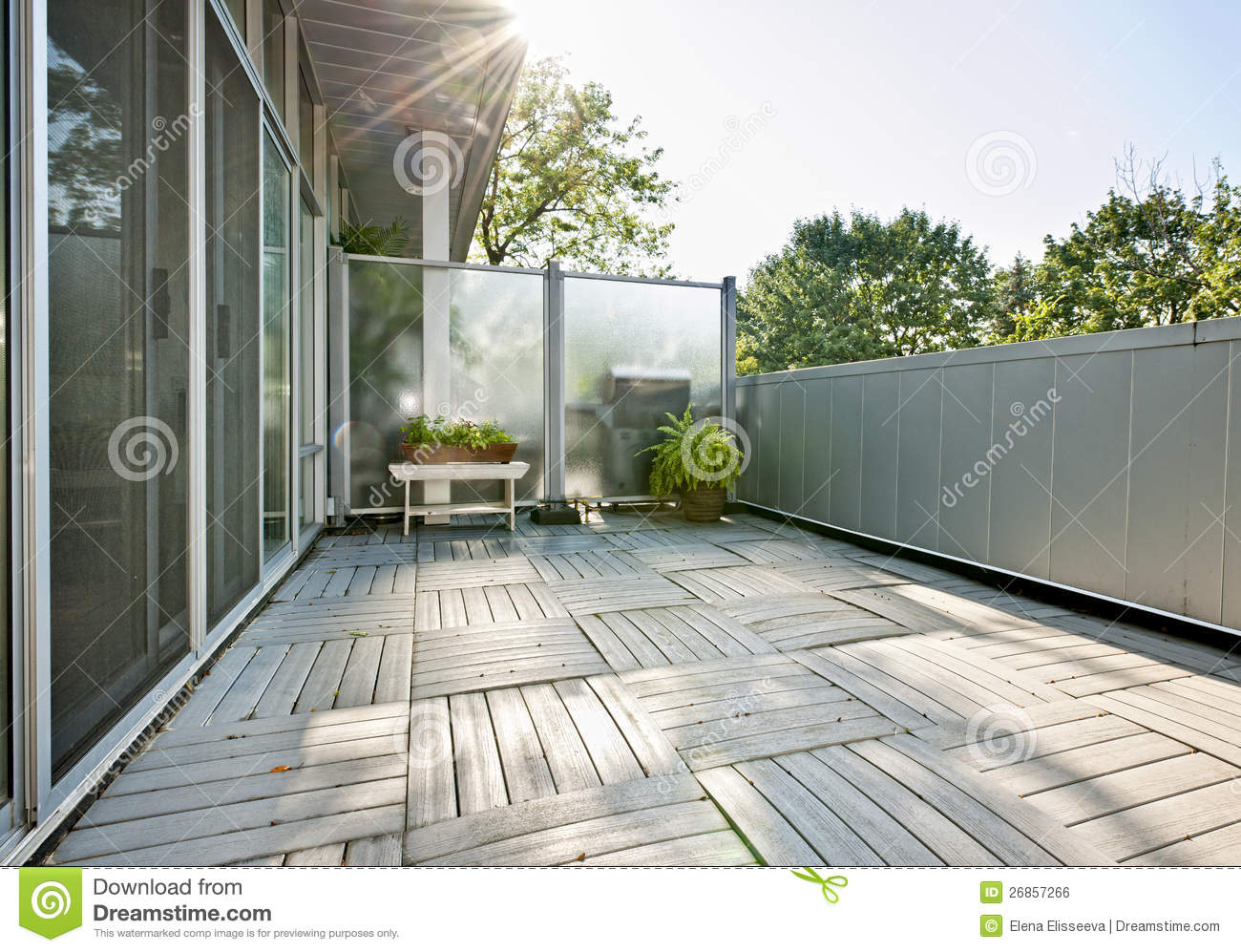 Apartment Balcony Royalty Free Stock Image Image 26857266