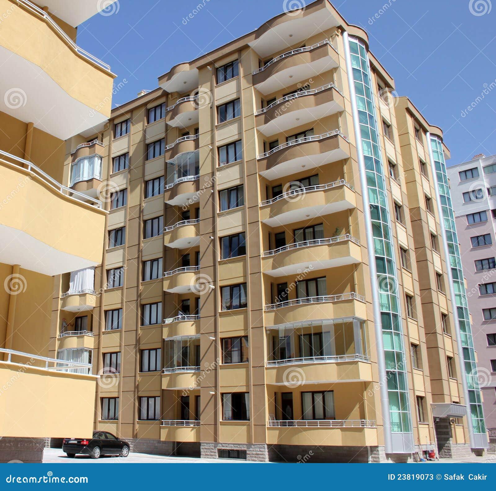Apartment Block: Apartment Block Stock Image. Image Of Construct, Home