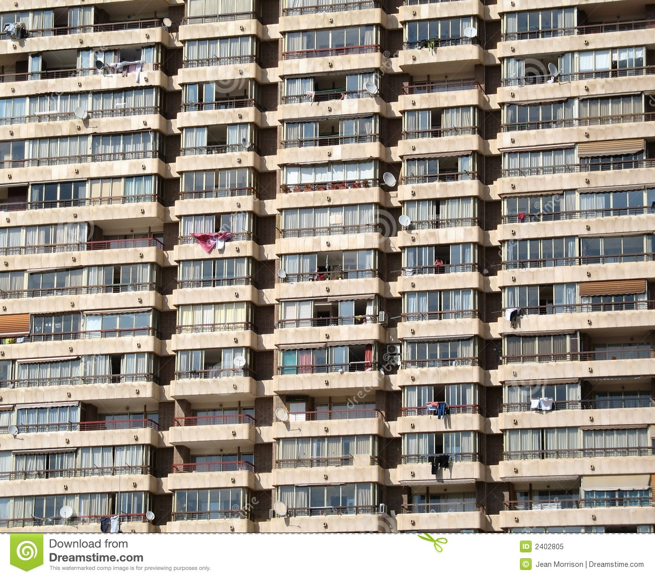 Apartment Block: Apartment Block Stock Image. Image Of Window, Close, Flat