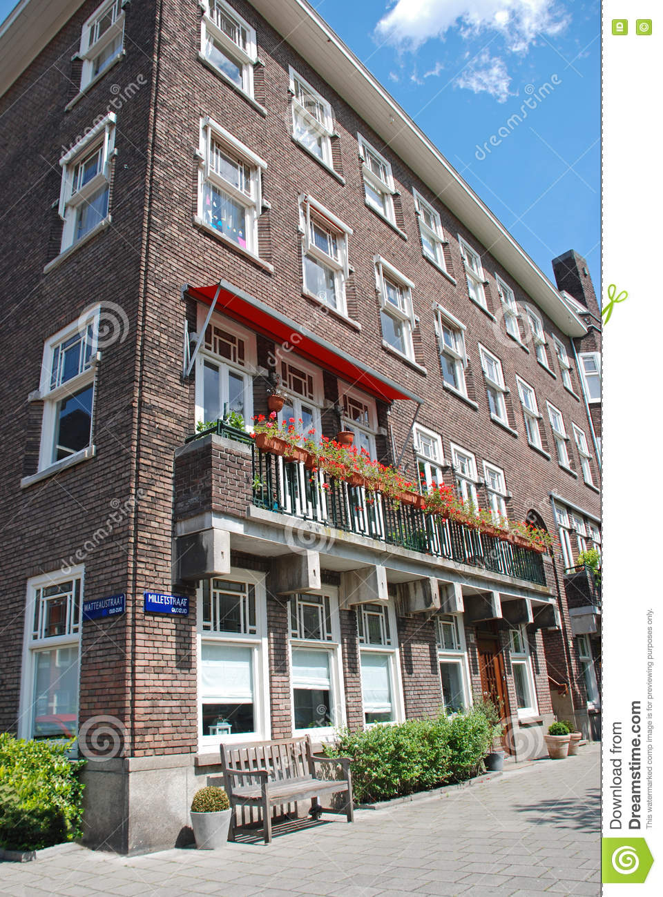 Apartment Block In Amsterdam Stock Image - Image of glass ...