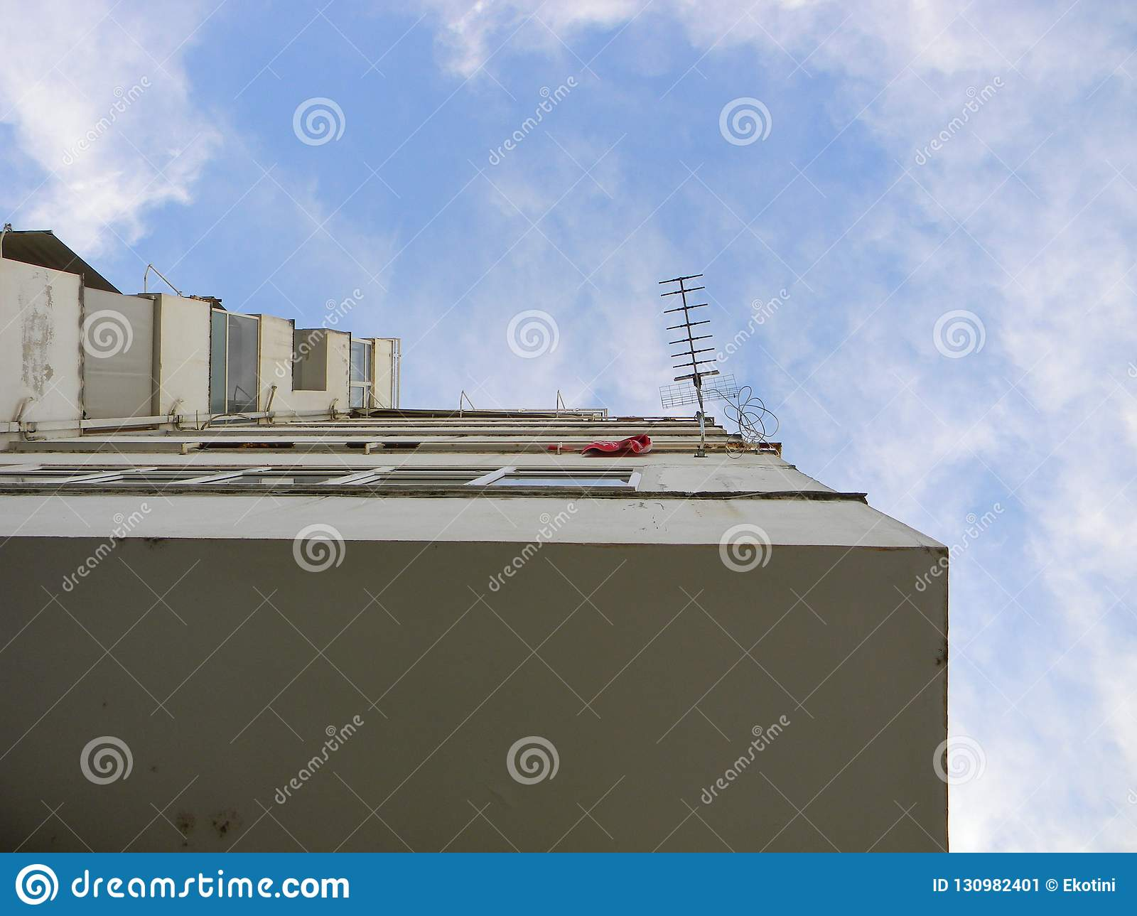 Apartment Block And Antenna Stock Image - Image of ...