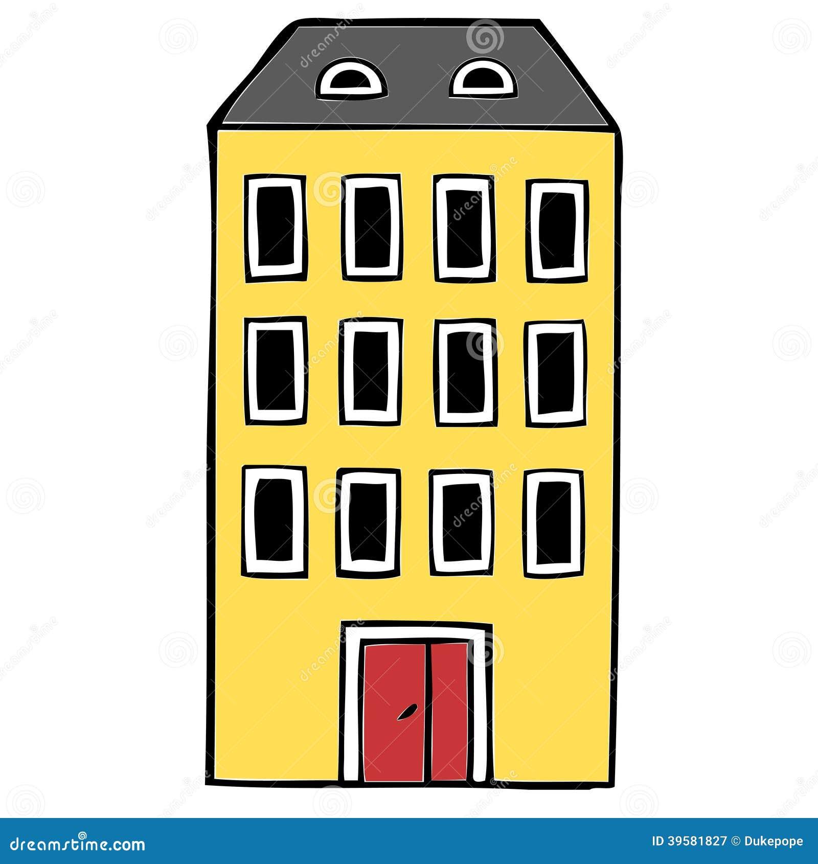 Apartment Block Stock Illustration Image Of Drawing 39581827