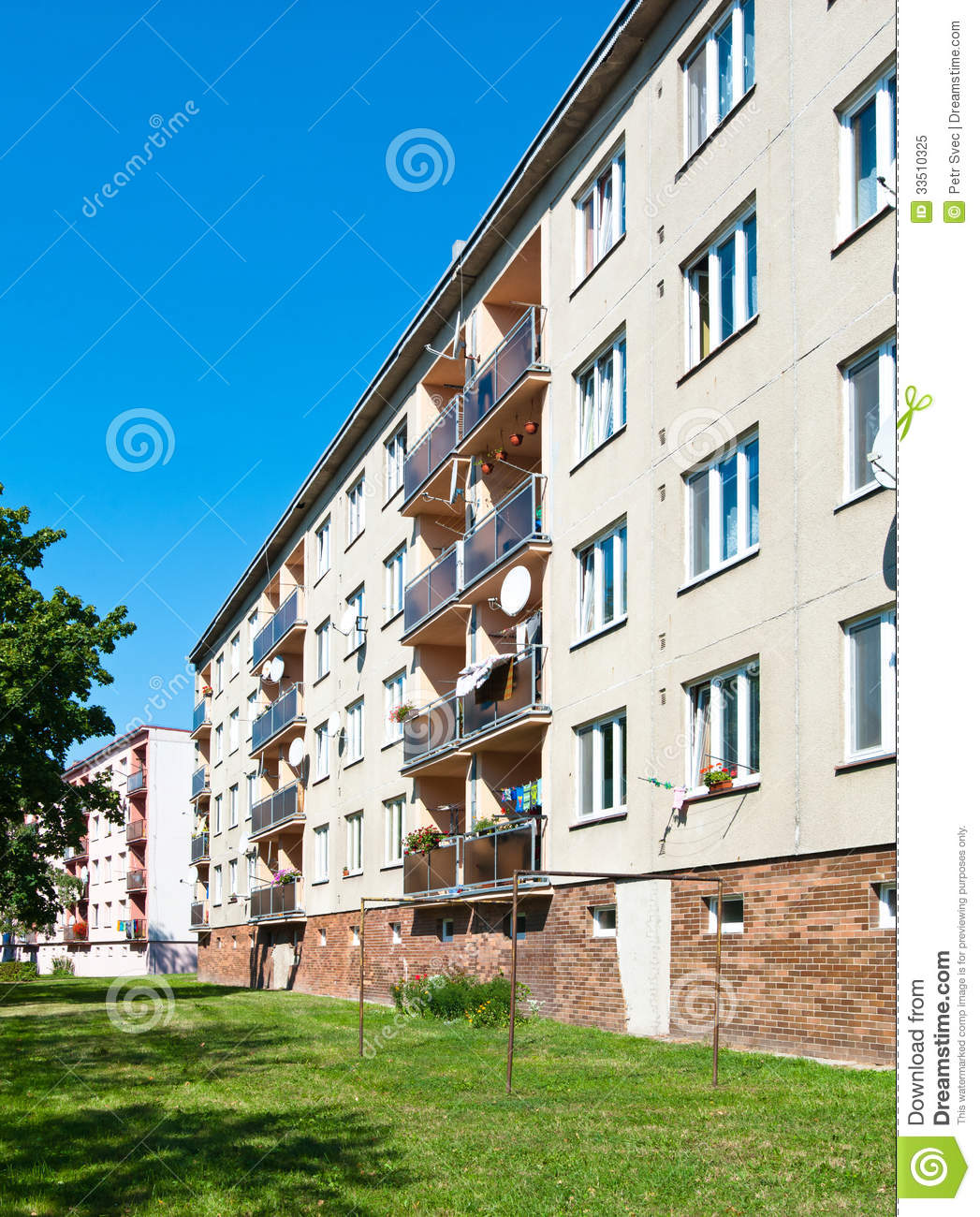 Apartment Block: Apartment Block Royalty-Free Stock Image