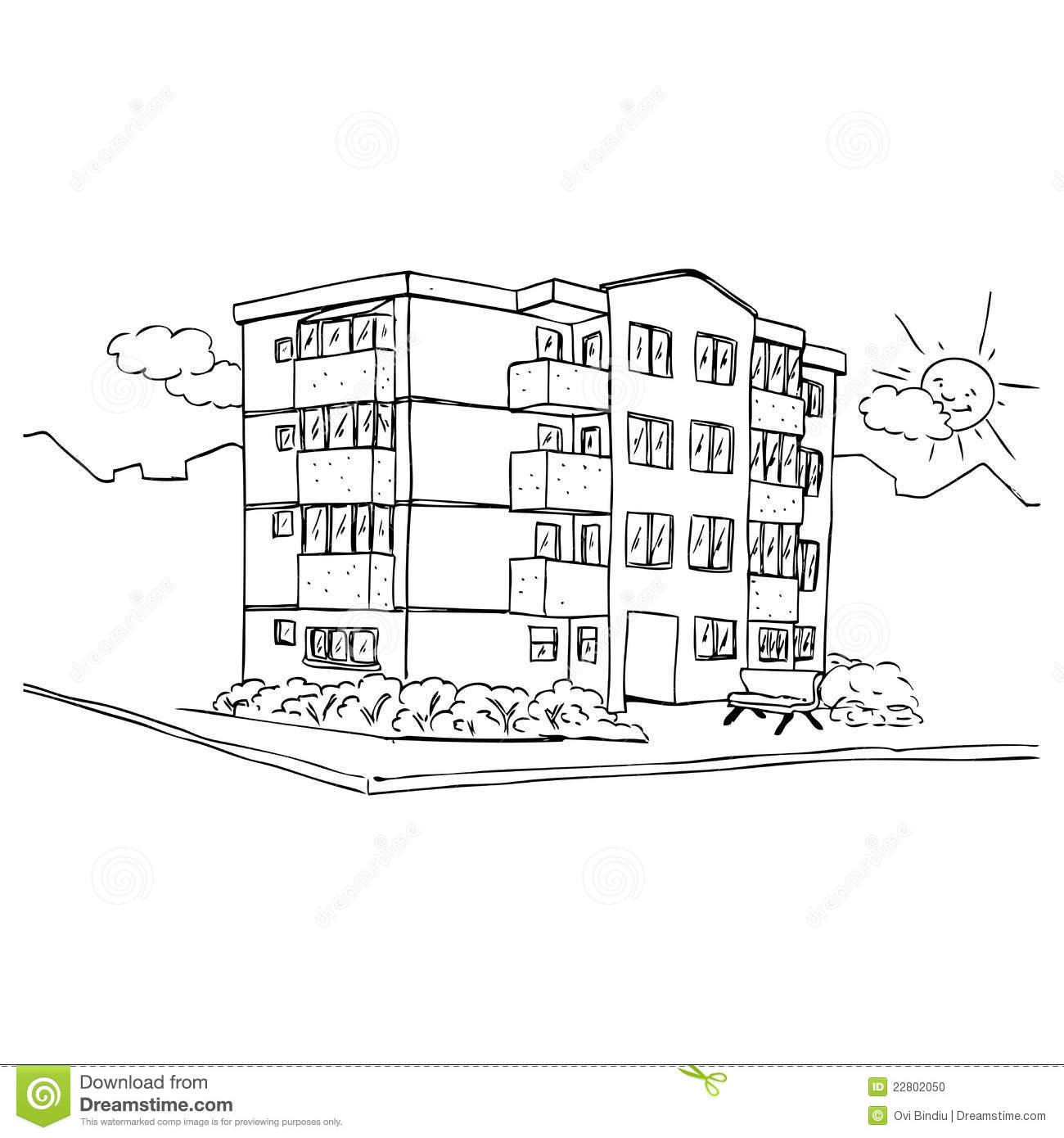 apartment building stock photo - image: 22802050