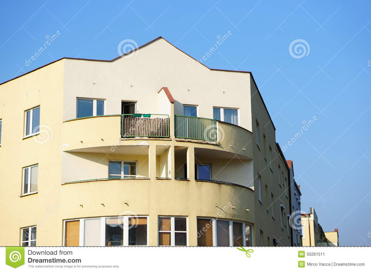 Apartment building stock photo image 50261511 for Building balcony