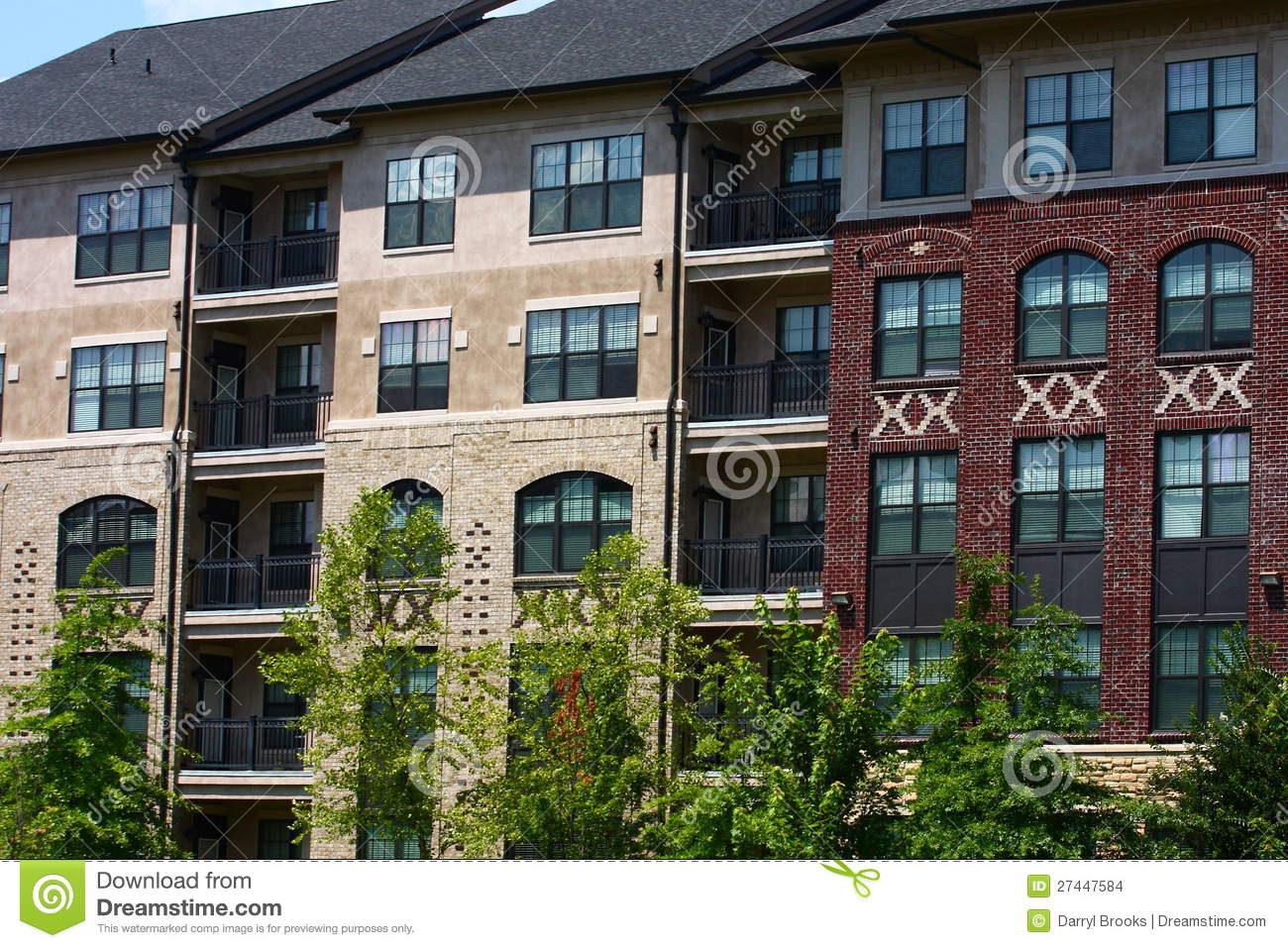 Apartment Building Of Brick And Stucco Stock Images Image   Brick Apartment  Building