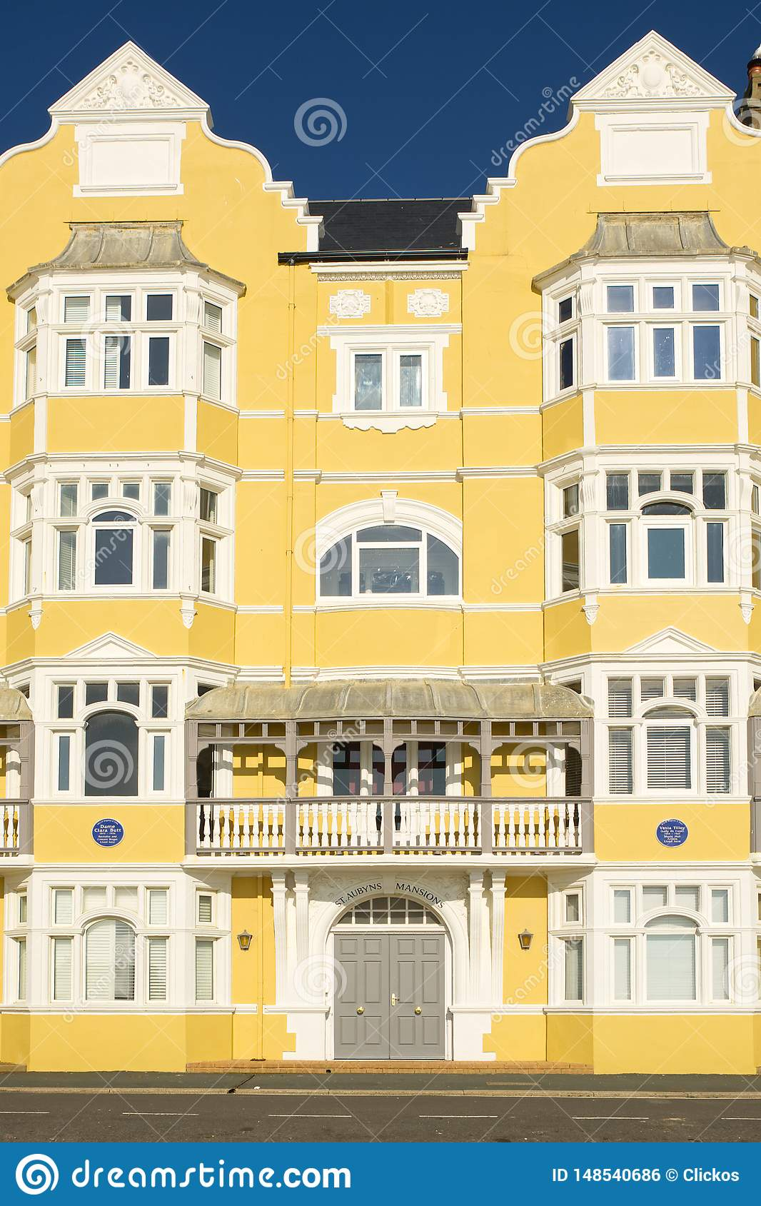 Apartment Building On Brighton Seafront, England Editorial ...