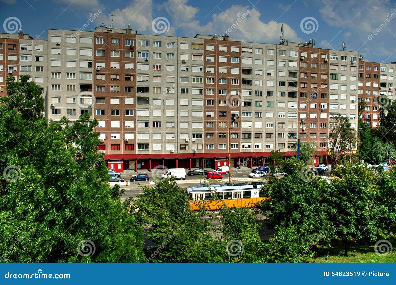 Apartment Building , Budapest, Hungary Stock Image - Image ...