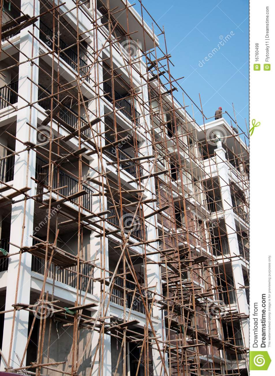 Apartment Building Construction Site Royalty Free Stock Photos
