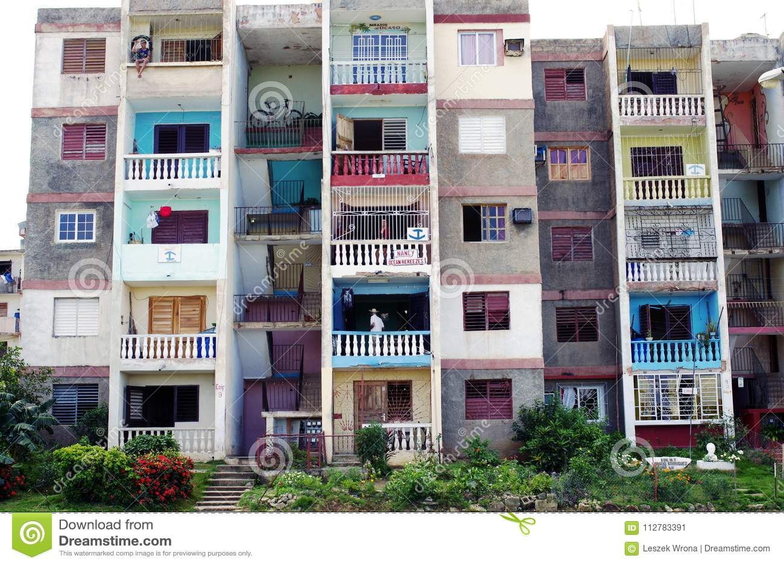 Apartment building in Cuba editorial photo. Image of cuba ...