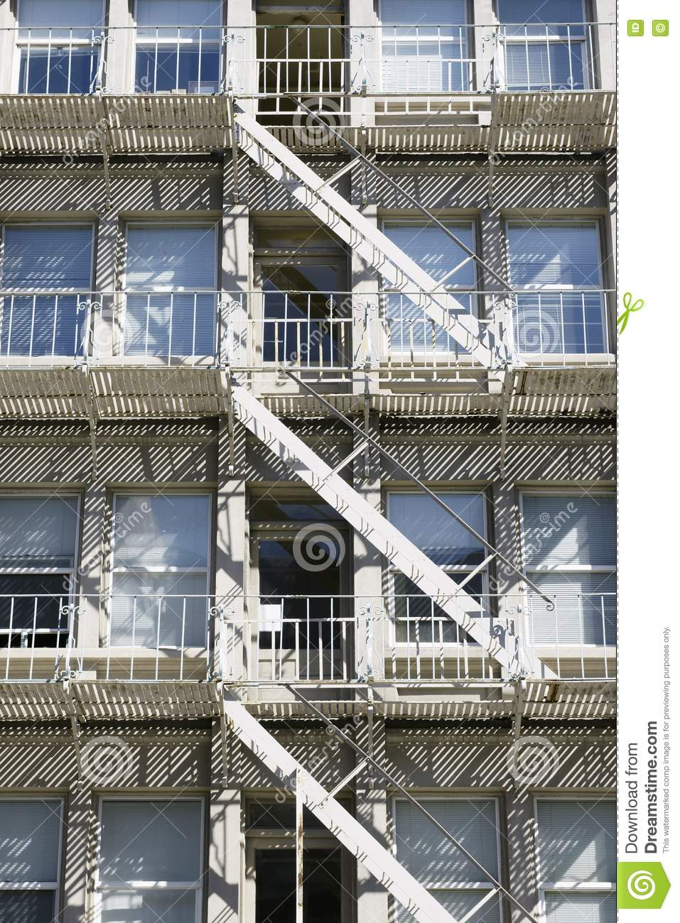 apartment building fire escape stairs stock photo image