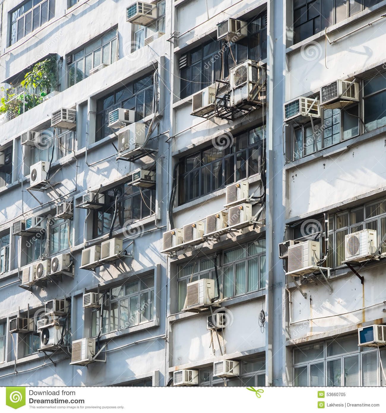 Hong Kong Apartments: Apartment Building In Hong Kong. Abstract City Background