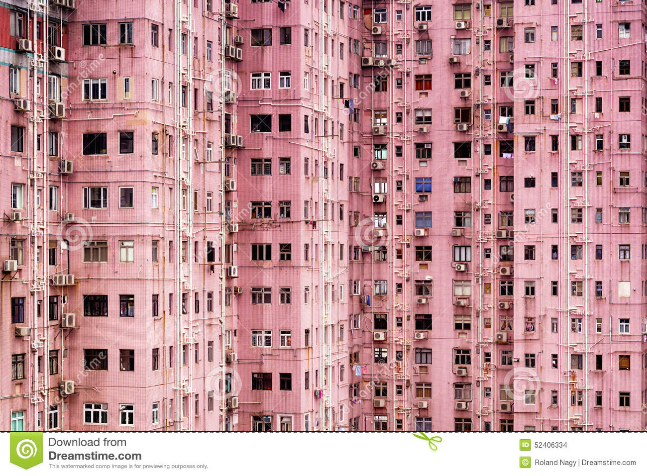 Apartment Building In Hong Kong Stock Photo Image 52406334