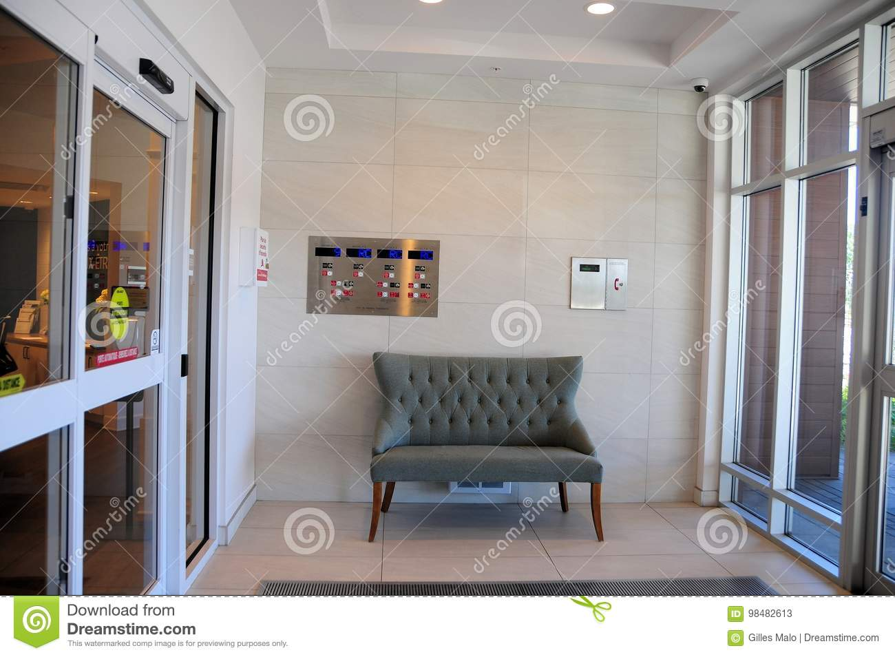 Inside Front Door Apartment On Apartment Building Indoor Front Entrance Building Indoor Front Entrance Stock Image Of