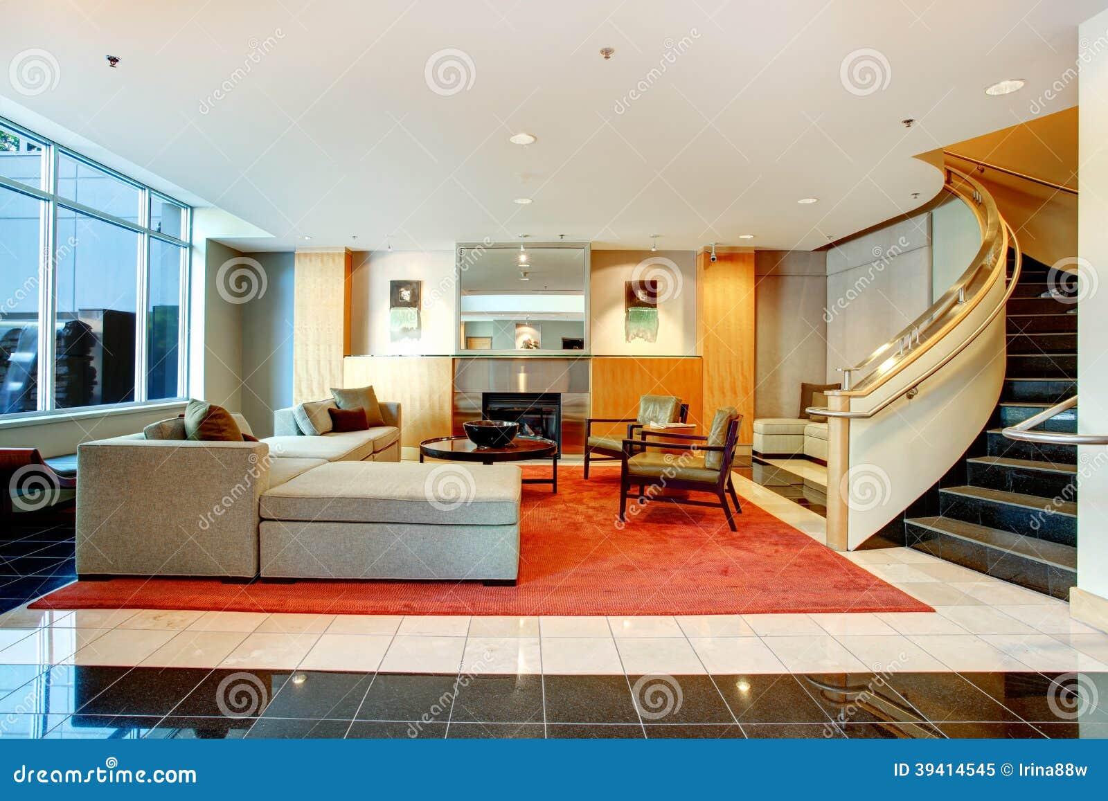 apartment building main lobby. Black Bedroom Furniture Sets. Home Design Ideas
