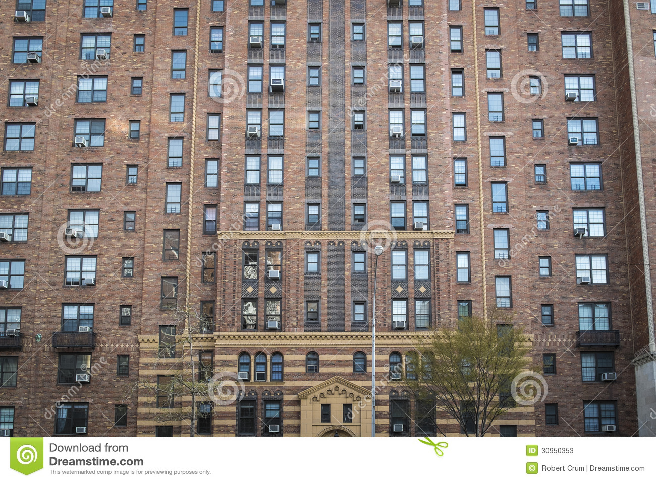 Apartment building manhattan new york city stock image for Floor plans manhattan apartment buildings