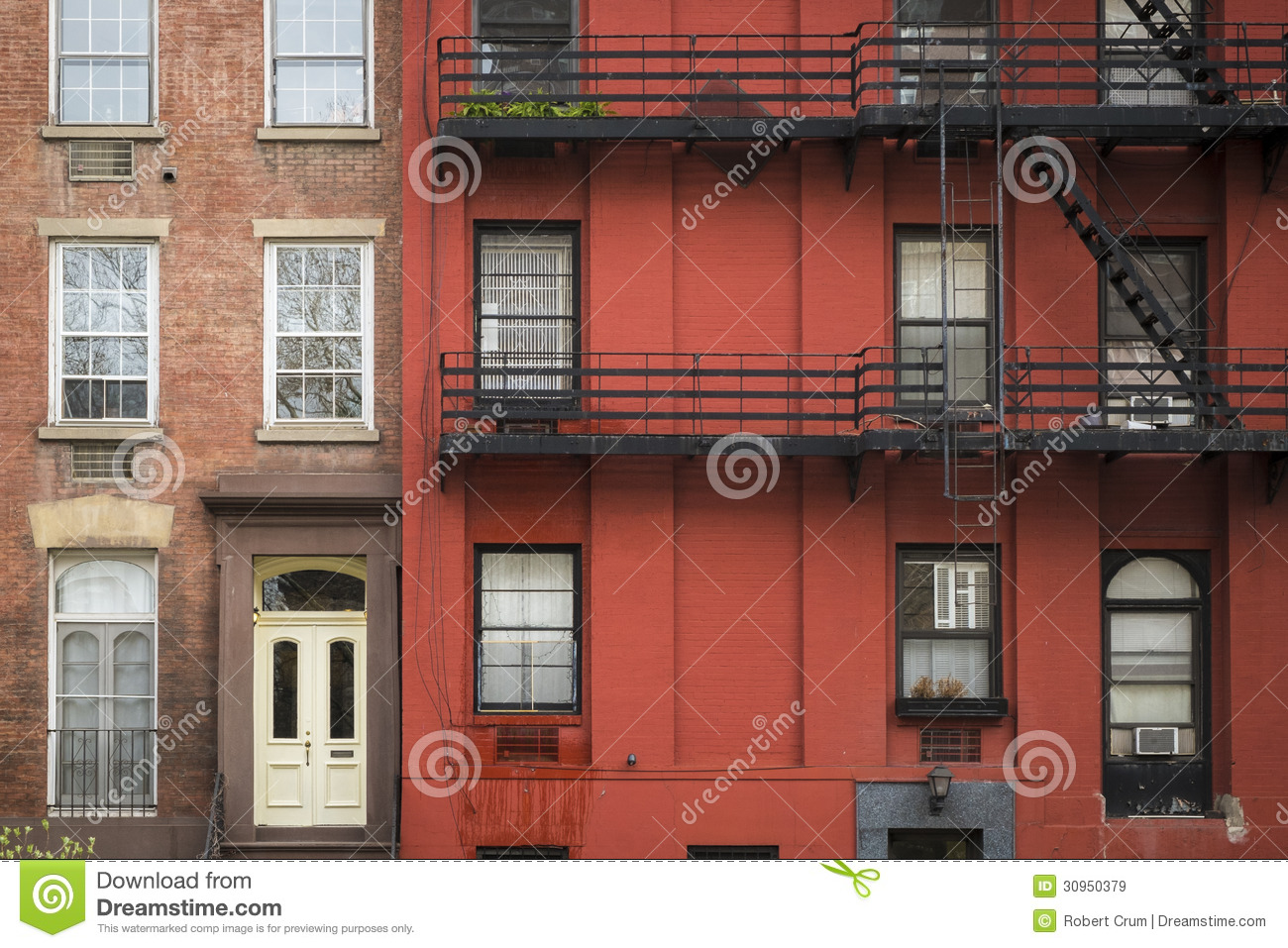 apartment building manhattan new york city stock image