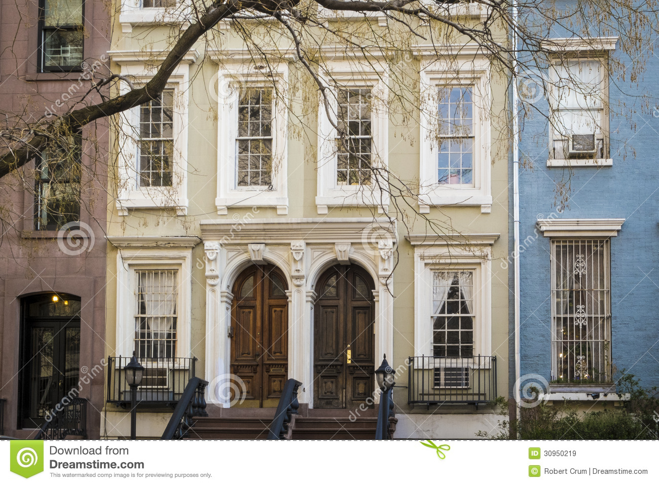 Apartment Building Manhattan New York City Stock Image Image Of