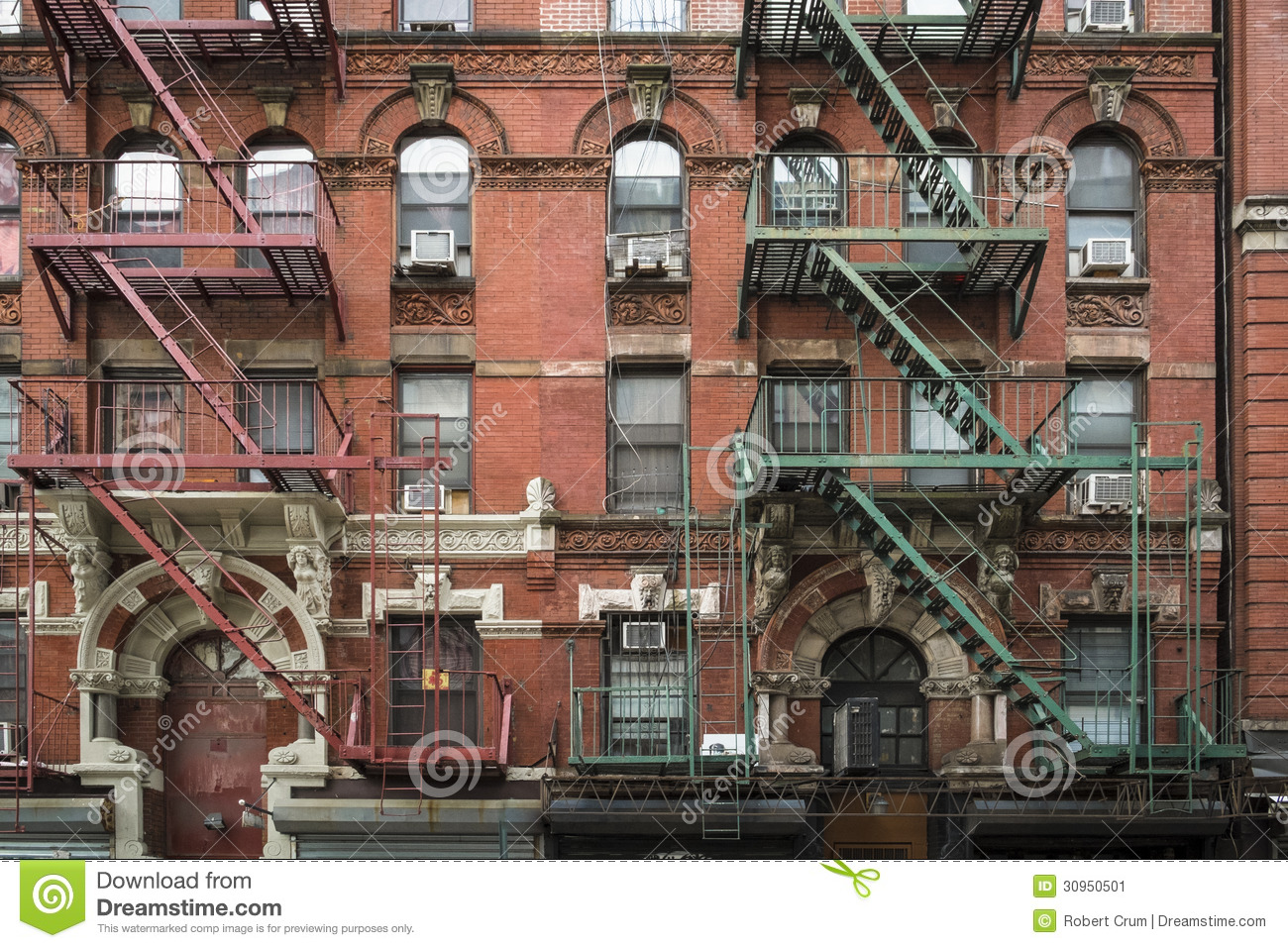 Apartment Building Manhattan New York City Stock Image Image 30950501