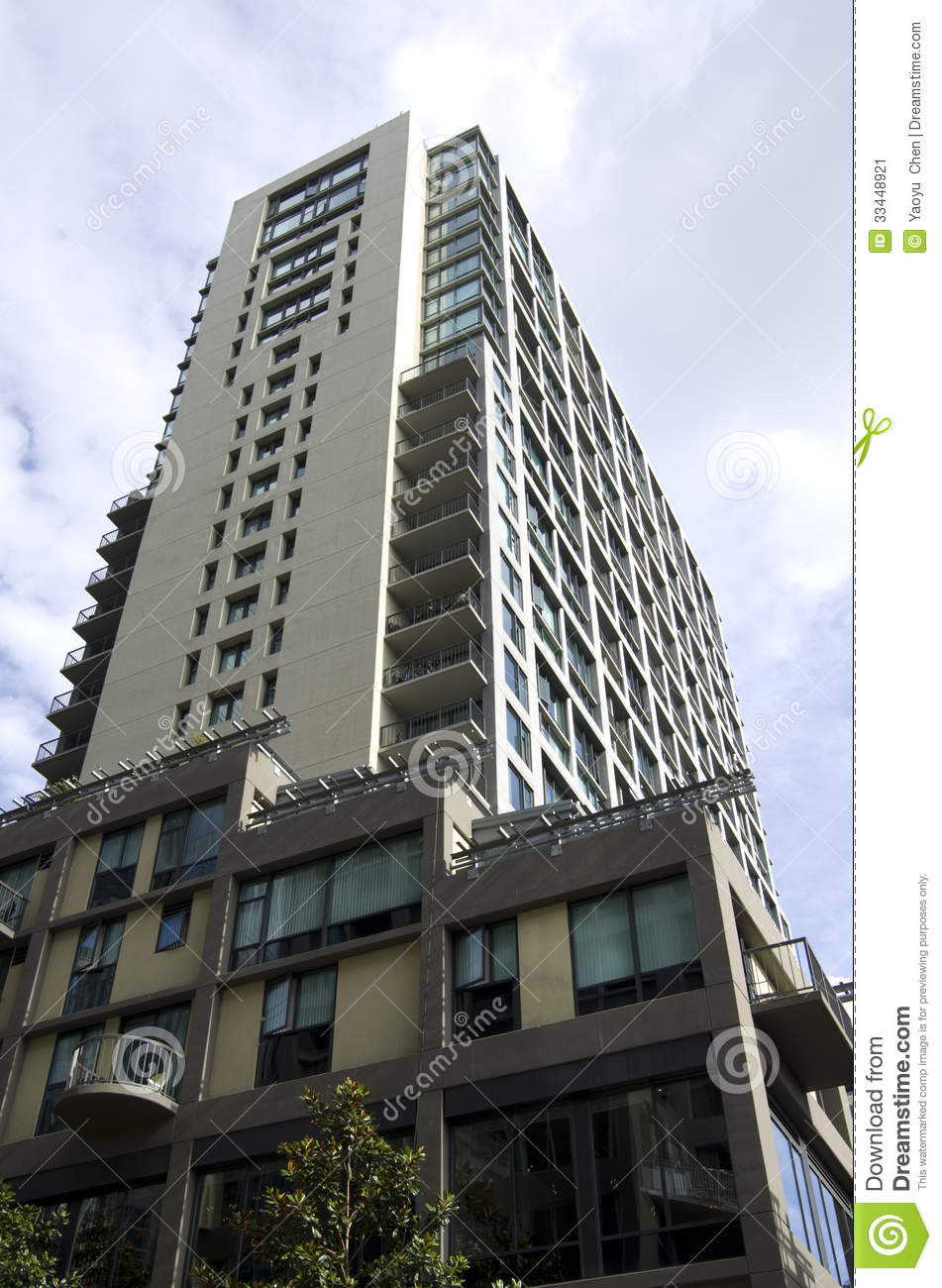 Apartment building stock image image 33448921 for City apartment building