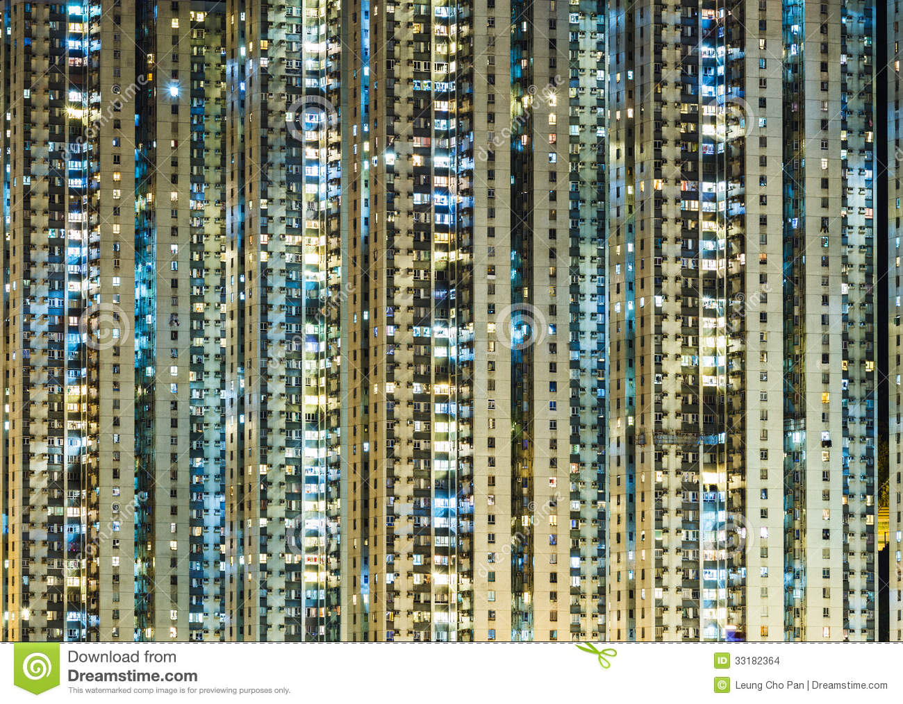 Apartment Building At Night Stock Images Image