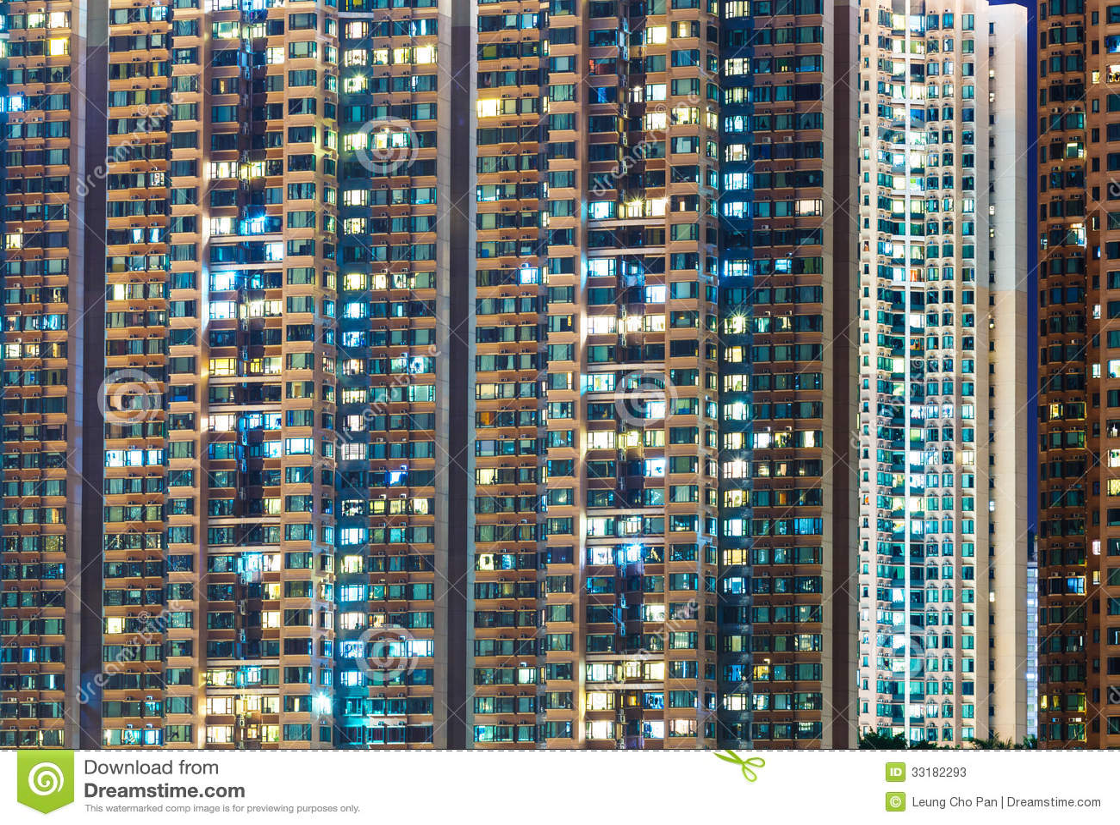 Apartment Building At Night Stock Photos Image