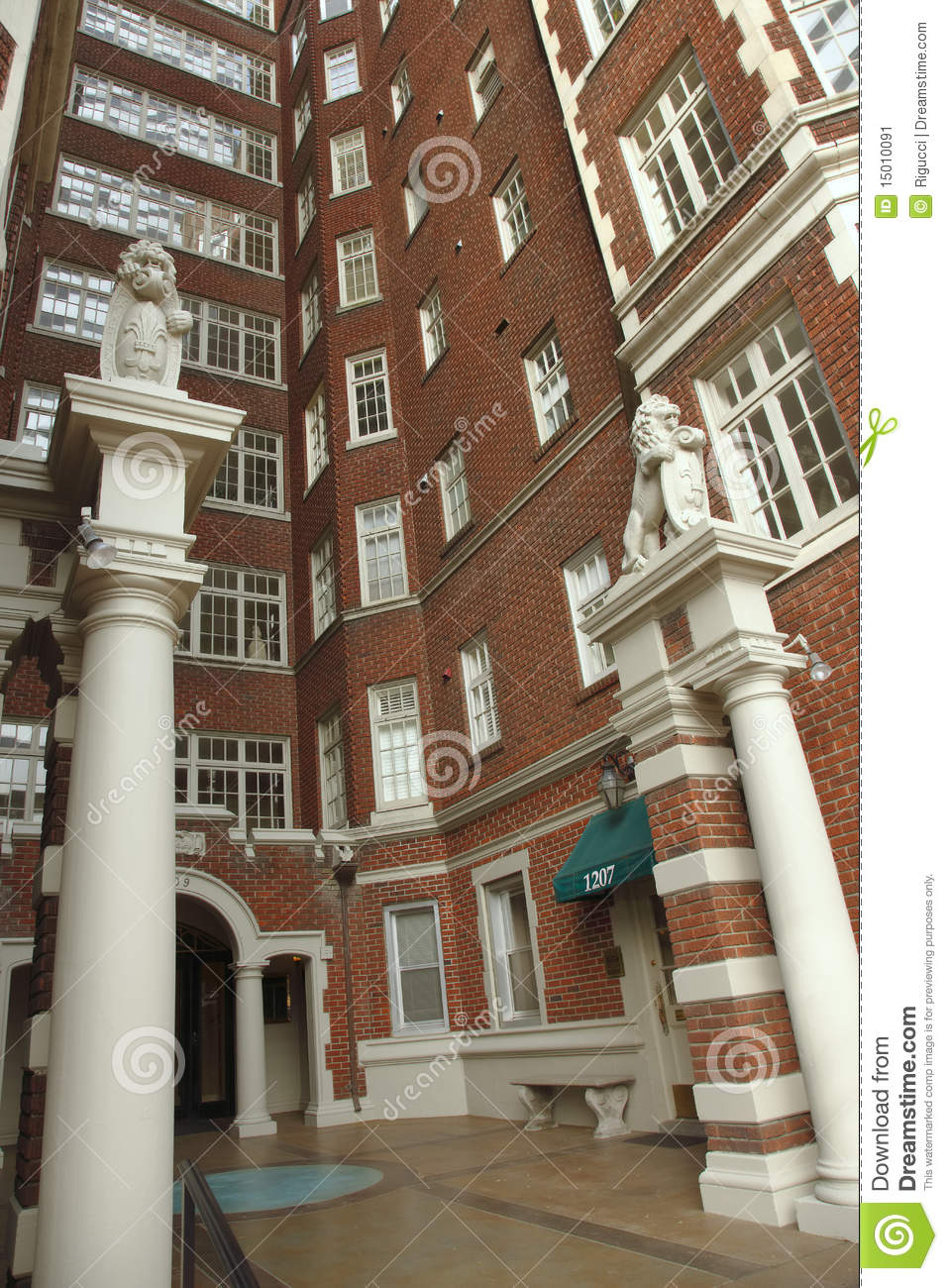Apartment Building, Portland Oregon. Stock Image - Image ...
