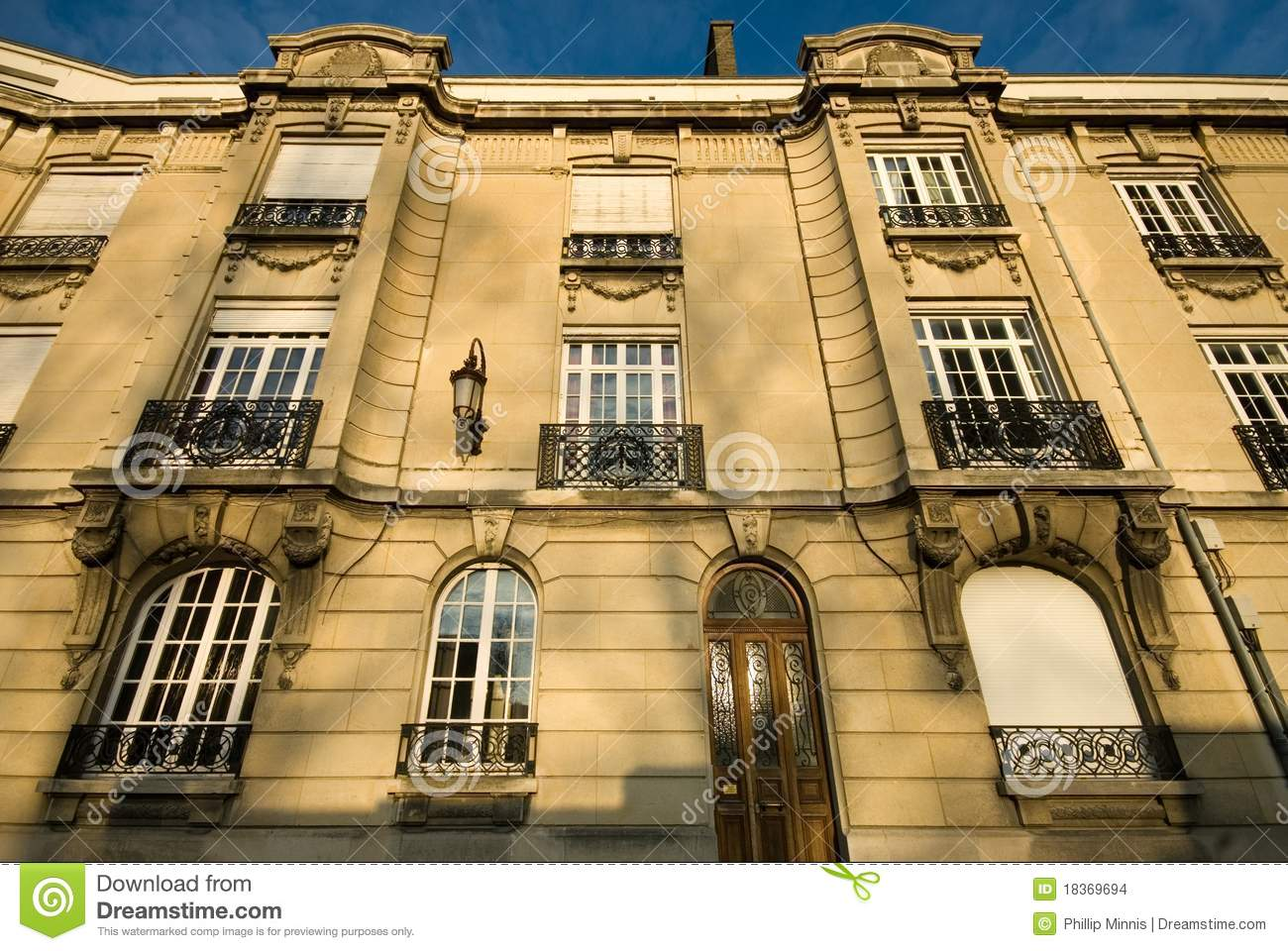 apartment building reims france stock images image
