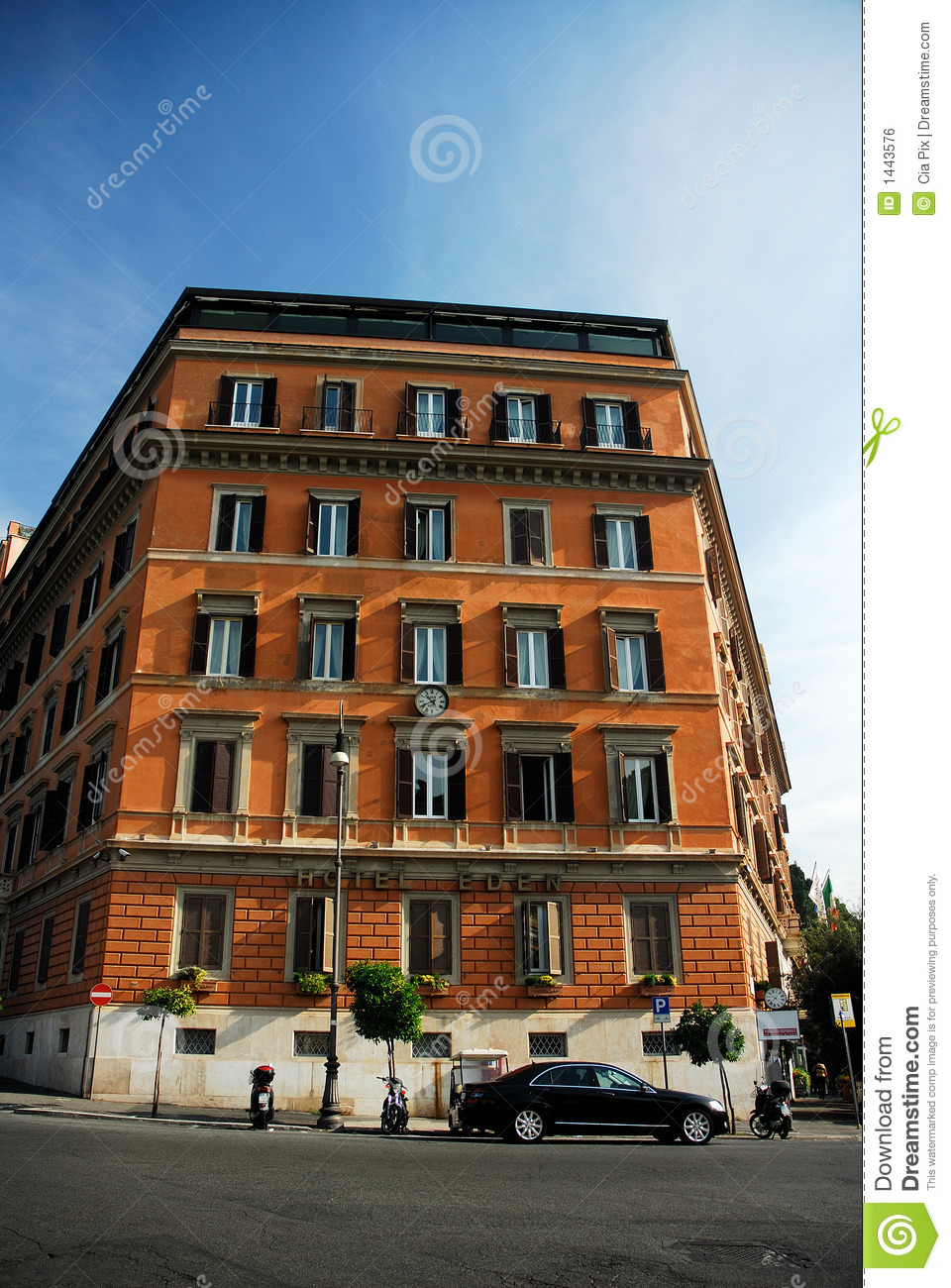 Apartment building in Rome stock photo. Image of ...