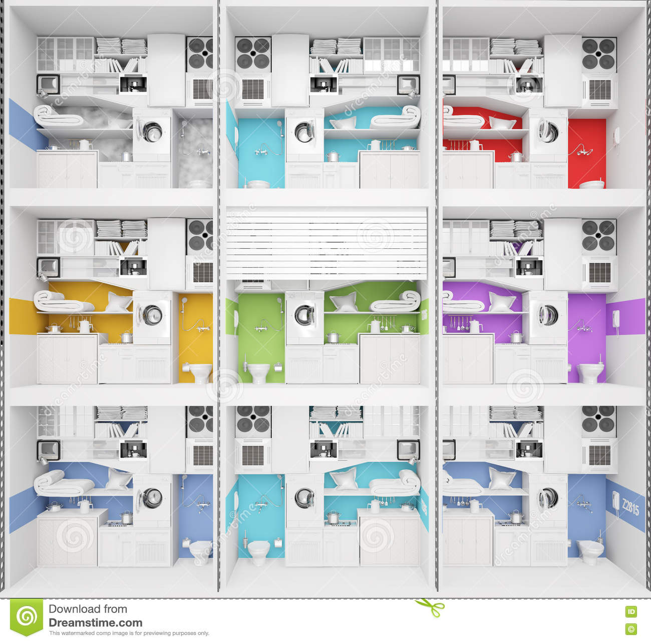 Apartment Building Structure Stock Image Image 38455671