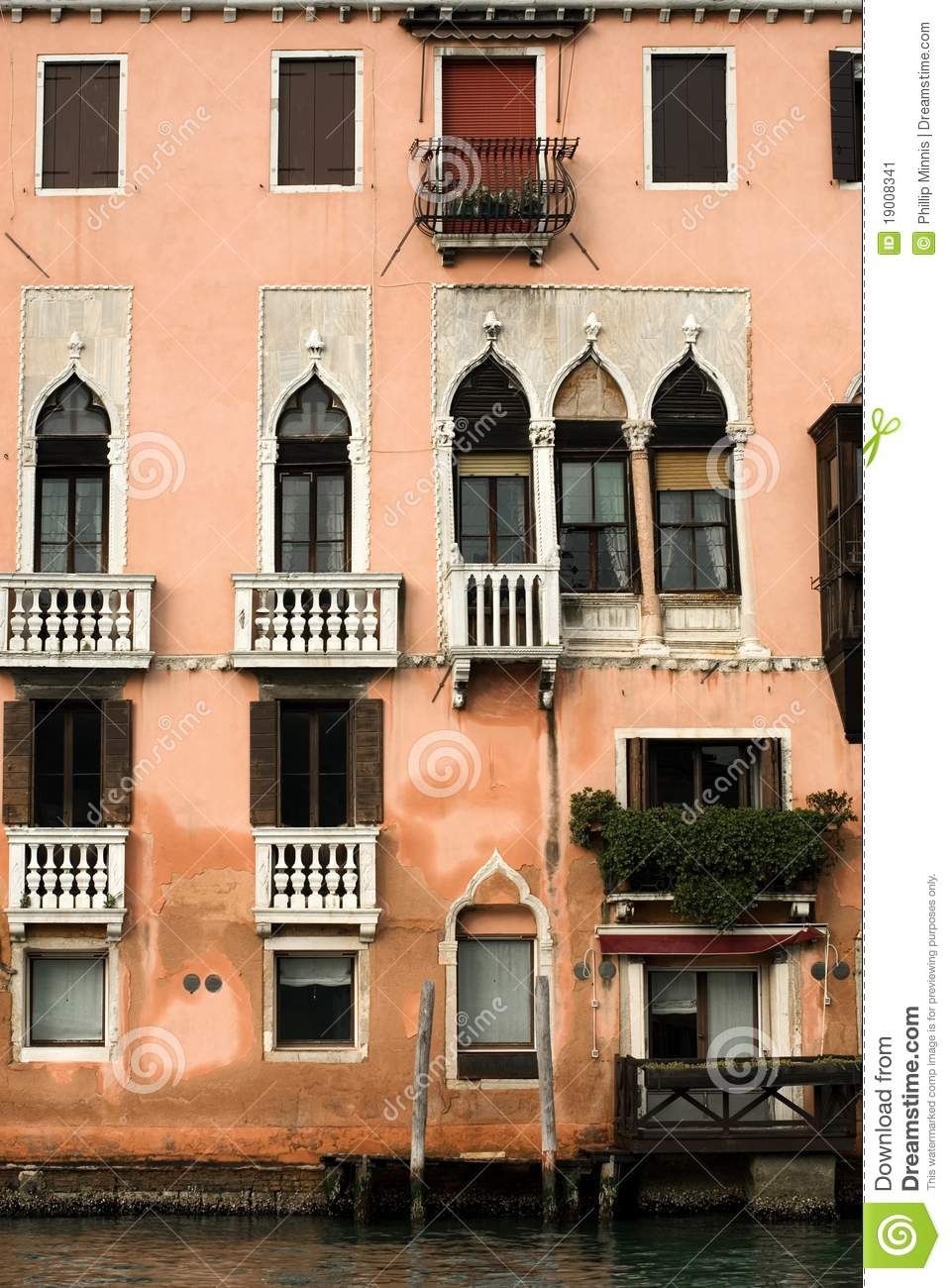 Apartment building venice italy stock image image for Design apartment venice